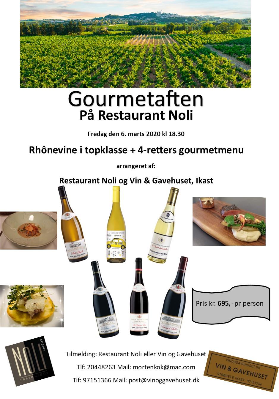 flyer Rhône Gourmetaften marts 2020 Laila